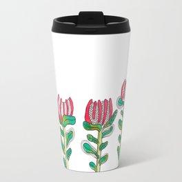 Red Banksia Flowers Travel Mug