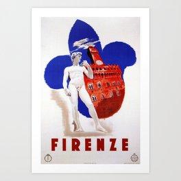Visit Florence Art Print