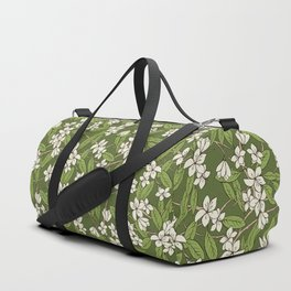 Sakura Branch Pattern - Greenery Duffle Bag