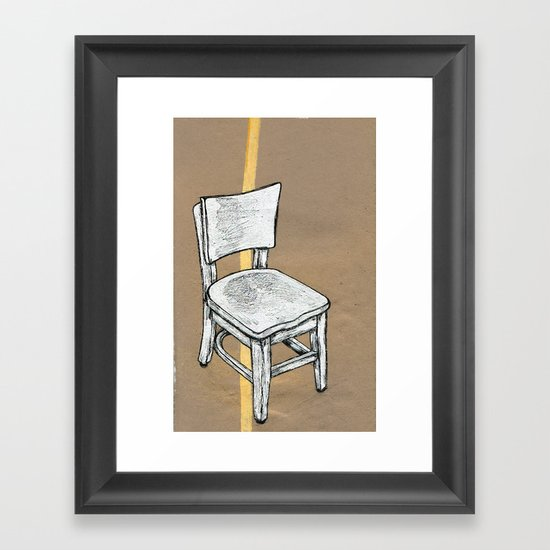 Right Chair Framed Art Print