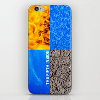 fifth element iPhone & iPod Skins featuring The Fifth Is Out There or Inside by digital2real