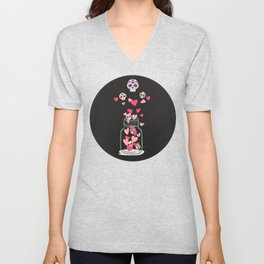 Sugar Skull Love Jar Unisex V-Neck