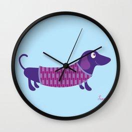 Dachshund Love Wall Clock