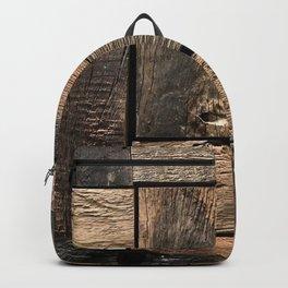 Rustic Wood Block // Tetris Jenga Vibe Real Hardwood Texture Accent Decoration Backpack