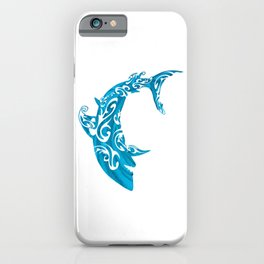 Shark Dive Watercolor Save A Shark iPhone Case