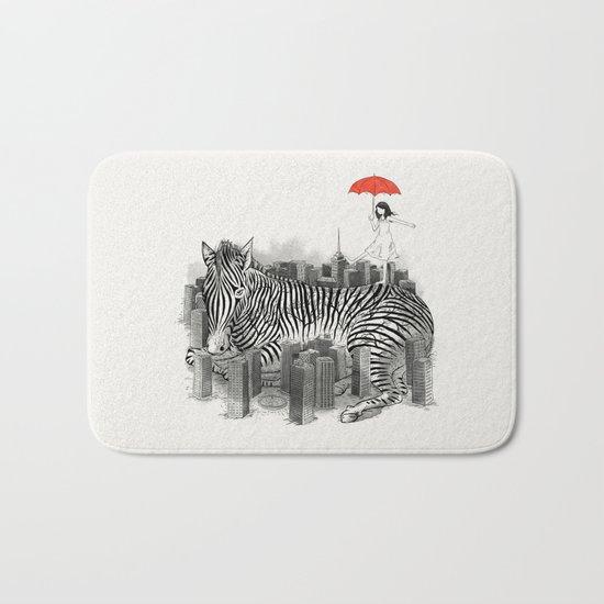Crossing Zebra Bath Mat