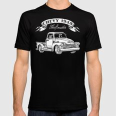 Legendary Chevy Truck Mens Fitted Tee Black SMALL