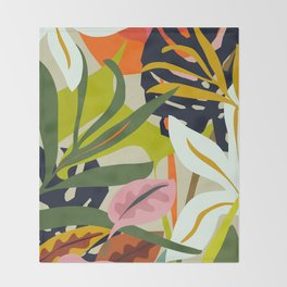 Jungle Abstract 2 Throw Blanket