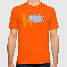 h for hippo T-shirt