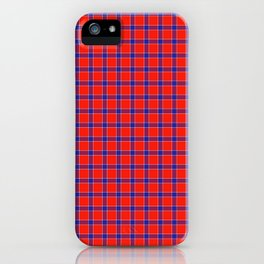 Maasai Shuka - Red, Blue, & White iPhone Case