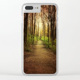 Woodland Wander Clear iPhone Case