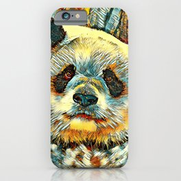 AnimalArt_Panda_20170901_by_JAMColorsSpecial iPhone Case