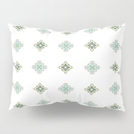 Turquoise With A Tough Of Gold Pattern Pillow Sham