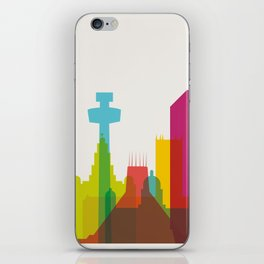 Shapes of Liverpool. Accurate to scale. iPhone Skin