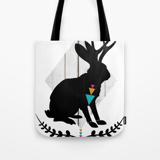 Aztec King of the Jackalope Tote Bag