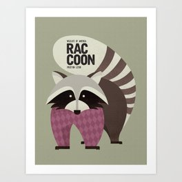 Hello Raccoon Art Print