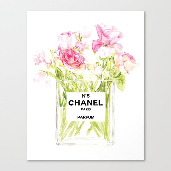 PERFUME FLORAL No.5 Canvas Print