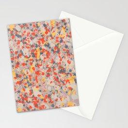 Orange Gray Ink Splatter Stationery Cards