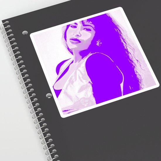 Selenaquintanilla Queen Of Tejano Como La Flor Bidi Bidi Bom Bom Purple Sticker By Bluetoothbrush Society6