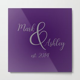 Plum and Grey Metal Print