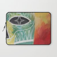 calavera Laptop Sleeves featuring Calavera 2 by Santiago Uceda