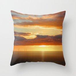 Irish Sea - Heavy Skys (Digital Art) Throw Pillow