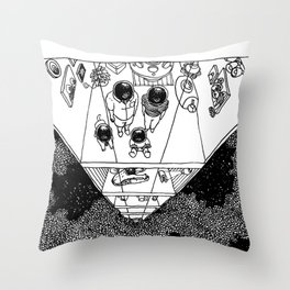 Box Schematic Throw Pillow