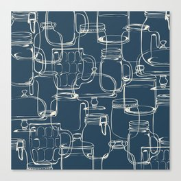 glass containers Canvas Print