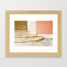 Steps to the mansion Framed Art Print