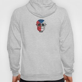 Baby Owl with Glasses and Czech Flag Hoody