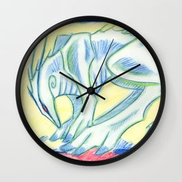 Green Walker Wall Clock