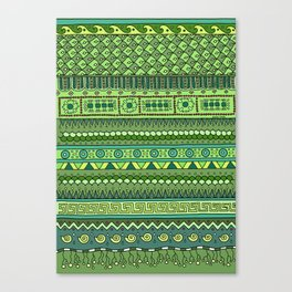 Yzor pattern 009 green-blue summer Canvas Print
