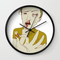 tooth Wall Clocks featuring TOOTH by Anna Wanda Gogusey