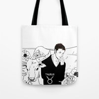 taurus Tote Bags featuring Taurus by Cassandra Jean