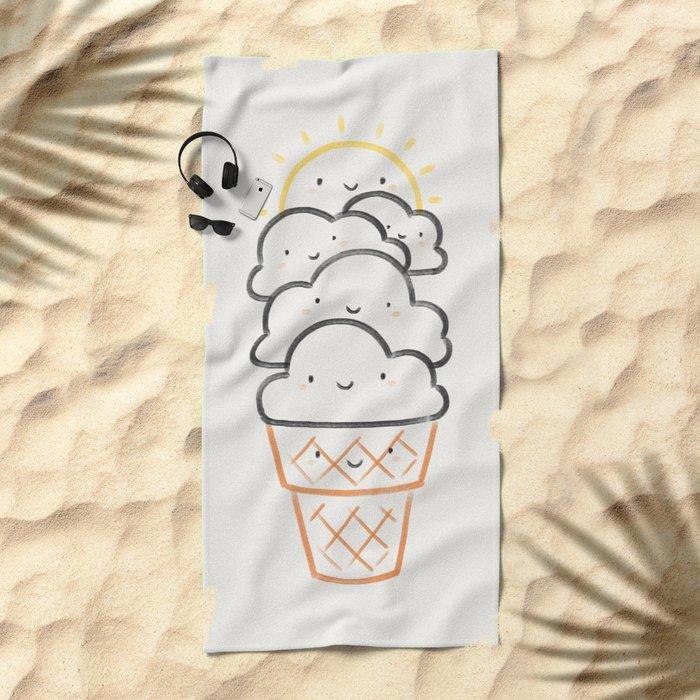 Everyday is like Sundae Beach Towel