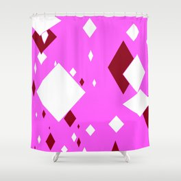 Purple-pink Minimalist Floating Pattern Abstract Shower Curtain