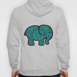 Blue Mandala Elephant Hoody