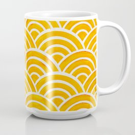 Japanese Seigaiha Wave – Marigold Palette Coffee Mug