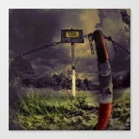 creepy Canvas Prints featuring Creepy  by kwok art