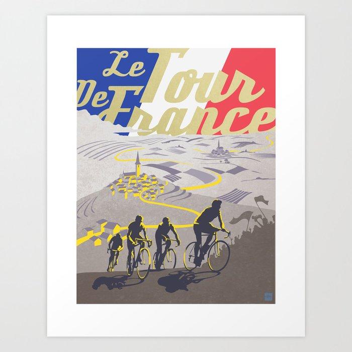 Le Tour de France retro poster Kunstdrucke