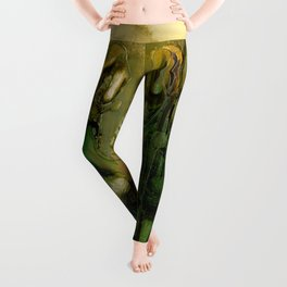 The Bremen Town Musicians, Abstract oil Painting Leggings
