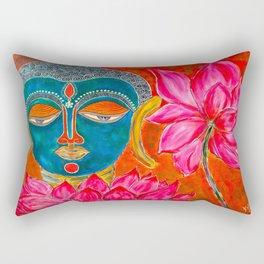 The Blue Buddha Rectangular Pillow