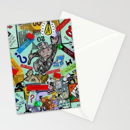 Vintage Monopoly Game Memories Stationery Cards