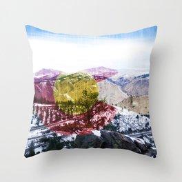 Coloraaaaado Throw Pillow