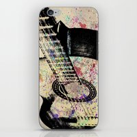 guitar iPhone & iPod Skins featuring Guitar by Del Vecchio Art by Aureo Del Vecchio