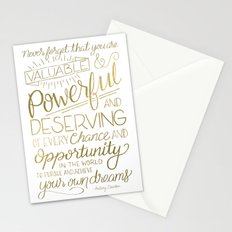 Pursue Your Dreams - Gold Stationery Cards