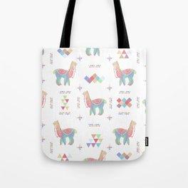 Colorful Alpaca Tote Bag