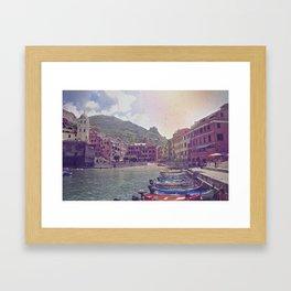 A Little Fishing Village In Italy Framed Art Print