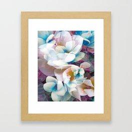 Floral Kaleidescope Pink Orange Purple Blue Framed Art Print