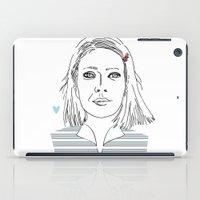 tenenbaum iPad Cases featuring Margot tenenbaum / The royal Tenenbaum by Colomina Maevi